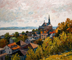 "SOLD ""Château Richer,"" by Raynald Leclerc 20 x 24 – oil $2200 Unframed"