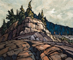 "SOLD ""Cliffs and Craggs,"" by Phil Buytendorp 10 x 12 – oil $730 Unframed"