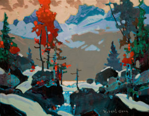 "SOLD ""Colour in Yoho,"" by Robert Genn 11 x 14 – acrylic $2700 Unframed"