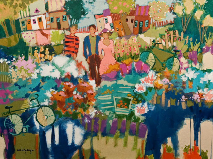 SOLD ``The Colours of July,`` by Claudette Castonguay 18 x 24 - acrylic $980 Unframed