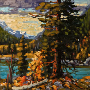 "SOLD ""Columbia Valley,"" by Rod Charlesworth 12 x 12 – oil $1120 Unframed $1240 Custom framed"