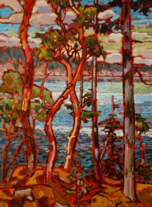 "SOLD ""Complimentary Contrasts at the Sunshine Coast,"" by Ed Loenen 12 x 16 – oil $825 Framed"