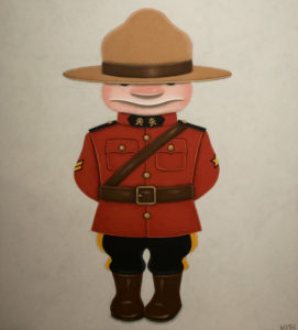 """SOLD """"The Corporal,"""" by Peter Wyse 36 x 40 – acrylic $2920 (unframed panel  with 1 1/2"""" edging)"""