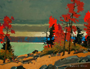 "SOLD ""Counterpoint, Matheson Bay, Lake of the Woods,"" by Robert Genn 14 x 18 – acrylic $4000 Unframed"