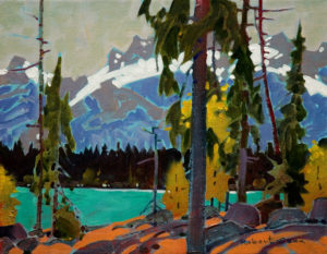 "SOLD ""Counterpoint on Yoho Lake,"" by Robert Genn 11 x 14 – acrylic $2200 Unframed"
