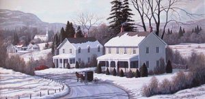 "SOLD ""A Country Road,"" by Bill Saunders 20 x 40 – acrylic"