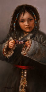 "SOLD ""Dark Chocolate,"" by Donna Zhang 10 x 20 – oil $1900 Unframed $2100 Custom framed"