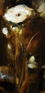 "SOLD ""Deep in the Wild Wood,"" by Susan Flaig 12 x 24 – acrylic with graphite $800 (thick canvas wrap without frame)"