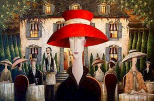 "SOLD ""Diva,"" by Danny McBride 48 x 72 – acrylic $12,500 (thick canvas wrap without frame)"