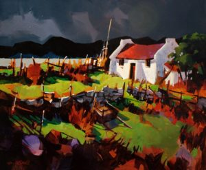 "SOLD ""Donegal Storm,"" by Michael O'Toole 20 x 24 – acrylic $1580 Framed"