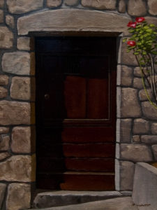 "SOLD ""Door #9,"" by Ray Ward 6 x 8 – oil $460 Unframed"