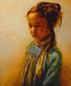 "SOLD ""Dreaming,"" by Donna Zhang 30 x 36 – oil"