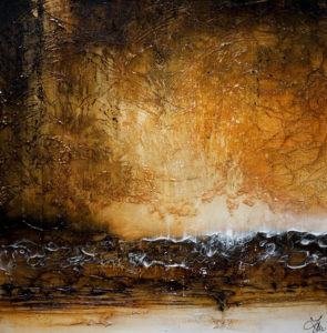 "SOLD ""Drops of Light,"" by Laura Harris 36 x 36 – acrylic $3880 (thick canvas wrap without frame)"