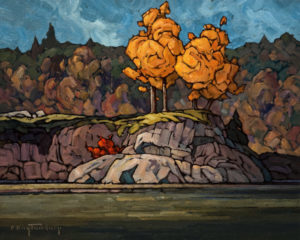 "SOLD ""East on Salt Spring,"" by Phil Buytendorp 16 x 20 – oil $1475 Unframed"