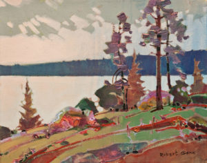 "SOLD ""Edge, Saturna,"" by Robert Genn 11 x 14 – acrylic $3000 Unframed"