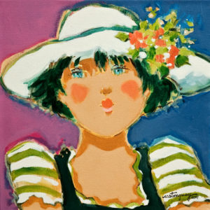 "SOLD ""Erika,"" by Claudette Castonguay 12 x 12 – acrylic $380 Unframed"