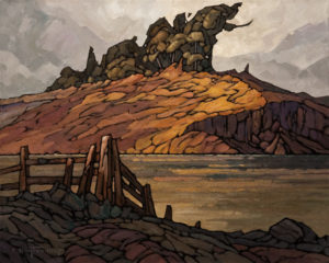 "SOLD ""Eroding Ridge,"" by Phil Buytendorp 16 x 20 – oil $1600 Custom framed $1330 Unframed"