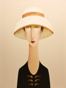 "SOLD ""Estelle,"" by Danny McBride 18 x 24 – acrylic $2350 Unframed"
