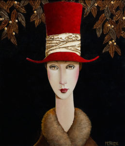 "SOLD ""Estelle in Winter,"" by Danny McBride 12 x 14 – acrylic $1065 Unframed"