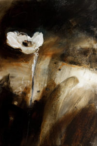 "SOLD ""The Eye of the Storm,"" by Susan Flaig 24 x 36 – acrylic/graphite $1740 Unframed"