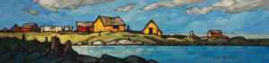 "SOLD ""Fair Weather,"" by Phil Buytendorp 4 x 16 – oil $500 Unframed"