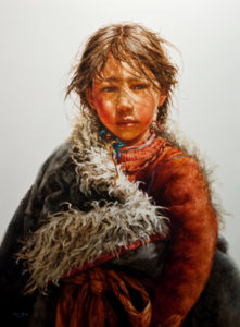 "SOLD ""Feeling the Sun,"" by Donna Zhang 36 x 48 – oil $9300 Unframed"