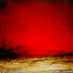 "SOLD ""The Flame Above,"" by Laura Harris 36 x 36 – acrylic $3350 (thick canvas wrap without frame)"