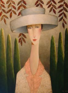 "SOLD ""Florence in Tuscany,"" by Danny McBride 30 x 40 – acrylic $3750 Unframed"