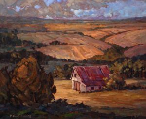 "SOLD ""Foothills Horizon,"" by Phil Buytendorp 20 x 24 – oil $1515 Framed"
