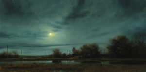 "SOLD ""Ford Road Nocturne,"" by Renato Muccillo 12 x 24 – oil $2500 Custom framed"