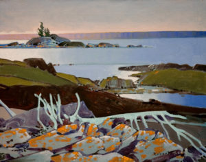 "SOLD ""A Foreshore Pattern, Georgian Bay,"" by Robert Genn 16 x 20 – acrylic $4400 Unframed"