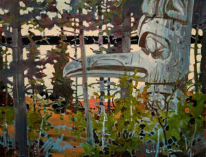 "SOLD ""A Forest Presence,"" by Robert Genn 14 x 18 – acrylic $4000 Unframed"