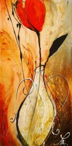 """SOLD """"For Her,"""" by Laura Harris 12 x 24 – acrylic $990 (thick canvas wrap without frame)"""