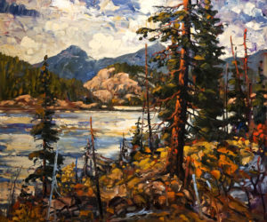 "SOLD ""The Fraser,"" by Rod Charlesworth 30 x 36 – oil $3800 Unframed"