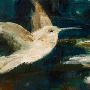 "SOLD ""Freedom of Flight,"" by Susan Flaig 6 x 6 – acrylic/graphite $315 Unframed"