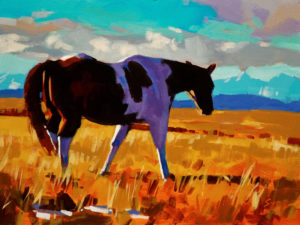 """SOLD """"Free to Roam,"""" by Mike Svob 12 x 16 – acrylic $1265 Unframed"""