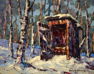 "SOLD ""Fresh Snow,"" by Phil Buytendorp 8 x 10 – oil $535 Framed"