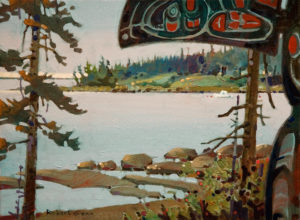 "SOLD ""From the Haven, Gabriola,"" by Robert Genn 12 x 16 – acrylic $3000 Unframed"