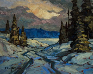 "SOLD ""Frozen Sheridan,"" by Phil Buytendorp 8 x 10 – oil $580 Framed"