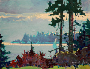 "SOLD ""Gabriola Light,"" by Robert Genn 11 x 14 – acrylic $2400 Unframed"