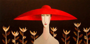"SOLD ""The Garden,"" by Danny McBride 24 x 48 – acrylic $3750 Unframed"