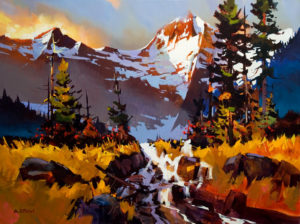 "SOLD ""Garibaldi Hike,"" by Michael O'Toole 30 x 40 – acrylic $3700 Unframed"