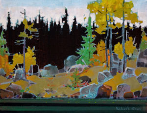 "SOLD ""Goat Island, Lake of the Woods,"" by Robert Genn 11 x 14 – acrylic $2200 Unframed"