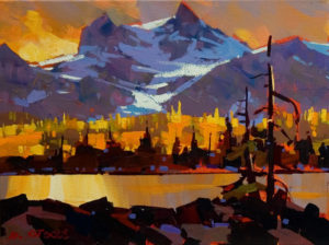 "SOLD ""Gold at Yoho I,"" by Michael O'Toole 12 x 16 – acrylic $880 Unframed"
