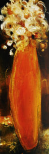 "SOLD ""Golden Moment,"" by Susan Flaig 12 x 36 – acrylic with graphite $930 Unframed"