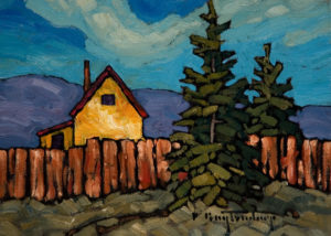 "SOLD ""A Good Neighbour,"" by Phil Buytendorp 5 x 7 – oil $565 Framed $415 Unframed"