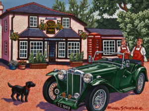 """SOLD """"The Good Old Days,"""" by Michael Stockdale 9 x 12 – acrylic $440 Unframed"""