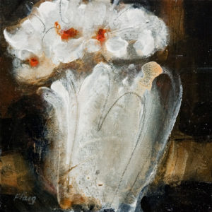 "SOLD ""Grace,"" by Susan Flaig 8 x 8 – acrylic with graphite $350 Unframed"