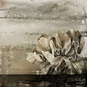 "SOLD ""Graphite Neutrals B,"" by Linda Thompson 20 x 20 – acrylic $960 (thick canvas wrap without frame)"