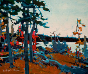 "SOLD ""Hades Passage, Lake of the Woods,"" by Robert Genn 10 x 12 – acrylic $2200 Unframed"